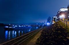 Anchoring near Bonn harbor #2 (Umschauen) Tags: night port geotagged harbor bonn ship nacht ufer hafen rhine rhein schiff anker tamron175028 graurheindorf geo:lat=5076191181919562 geo:lon=7083152387557902