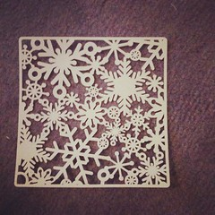 Snowflake lace cut on Robo