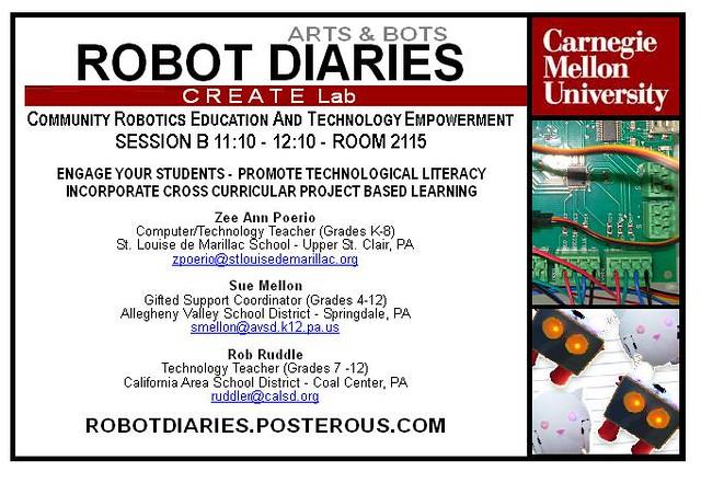 Robot Diaries at TRETC - November 16, 2011