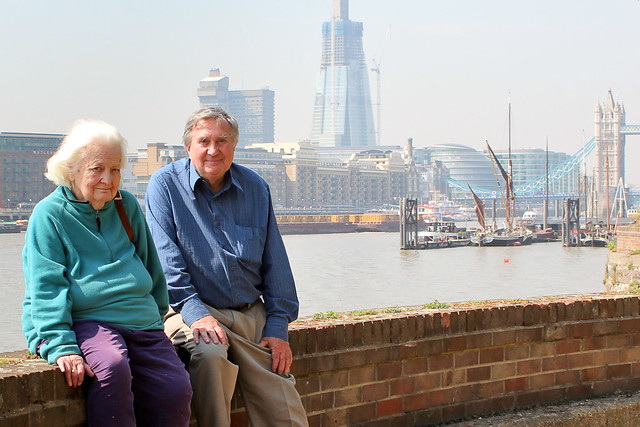Madge Darby and Ray Newton of the History of Wapping Trust