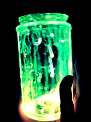 Glow jar (Sierra Star Photography) Tags: green yellow glow jar glowing