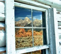 Faded Window (Jeff Clow) Tags: autumn window faded tetons grandtetonnationalpark jacksonholewyoming