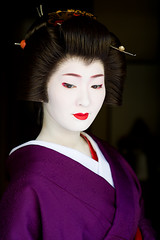 Kimina in Purple (John Paul Foster) Tags: portrait woman beauty japan female kyoto asia purple culture geiko geisha elegance miyagawacho kimina