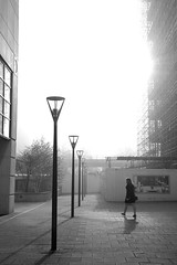 CW Mist (vladraski) Tags: november light white mist black london fall fog wharf canry