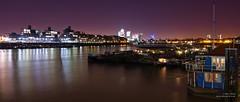 Wapping and Canary Wharf (cybertect) Tags: canarywharf downingsroadmoorings e1 london londone1 londonse1 panasonicg2 riverthames wapping river unitedkingdom explore