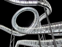 Looping (fireleaf) Tags: germany lights leds rollercoaster magicmountain duisburg achterbahn begehbar fireleaf landmarke wanheim tigerturtle heinrichhildebrandhhe riimnet