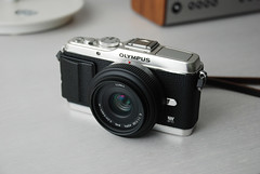 Olympus E-P3 with Aki Asahi leatherette wrap (smudge_cml) Tags: leather asahi wrap olympus aki leatherette ep3 akiasahi olympusep3