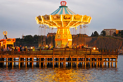 Carousel & Reflections, Grna Lund, Stockholm, Sweden (nbcmeissner) Tags: sweden stockholm schweden sverige grnalund nationalgeographic djurgrden canondigitalixus870is