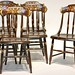 81. Set of (6) Antique Hithcock Style Chairs