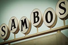 Sambo's (Shakes The Clown) Tags: california food signs green coffee up santabarbara breakfast vintage typography lights restaurant flickr burger illumination retro signage font 1957 signlanguage cabrilloblvd canon5dmarkii