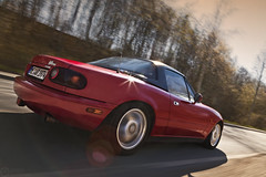 (Andreas Reinhold) Tags: red motion blur automotive move rig pan mazda miata mx5 roadster eunos andreasreinhold rigshot