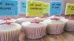 Cupcakes for Teachers (Baked In Caked Out (Sameen)) Tags: flowers sign cupcakes mr vanilla teachers posts miss mrs buttercream femaleteachers maleteachers