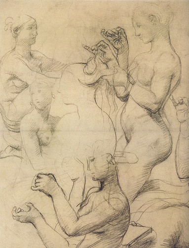 Ingres - Études pour le bain turc - femmes nues dans diverses attitudes by petrus.agricola