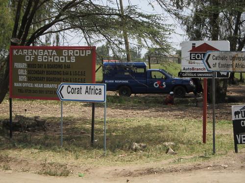 driving road sign nairobi kenya africa by Danalynn C