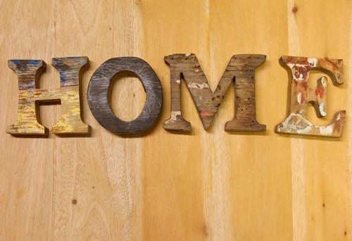 HOME SIGN Beach Decor Vintage Nautical Wooden Letters set
