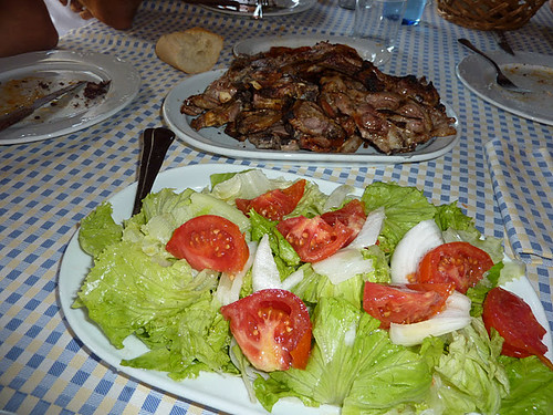 Tirgo | Bodega el Pimiento | Ensalada y Chuletillas
