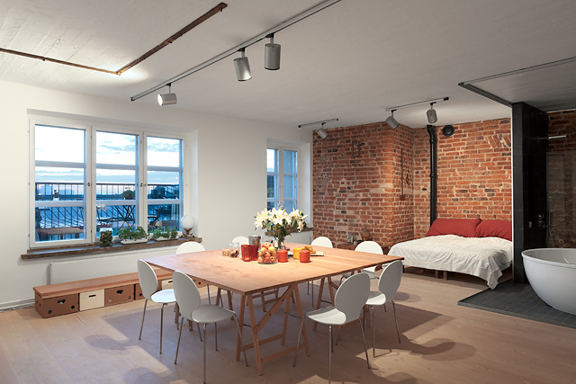 Interior photography of loft apartment in Helsinki