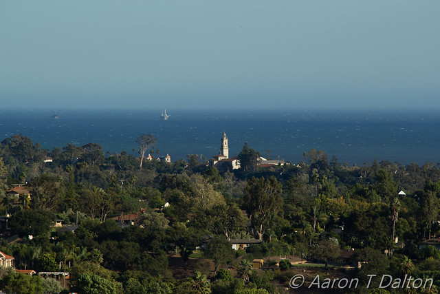 Santa Barbara Mission Peeking Out