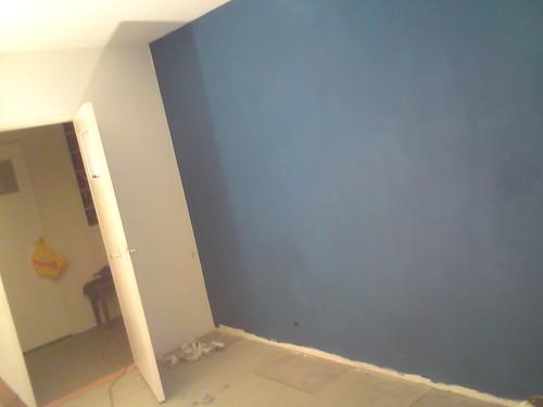 Slaapkamer Blauwe Muur : Blauwe muur in de slaapkamer a photo on flickriver