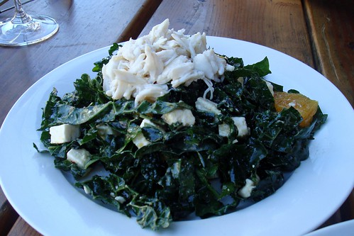 Kale Salad with Crab