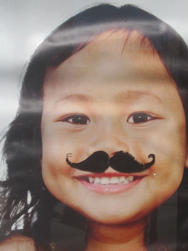 Little Girl with a Moustache