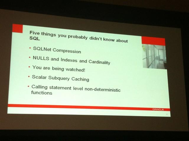 Tom Kyte's Presentation