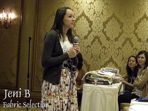 Jeni B at Creative Fabric Selection