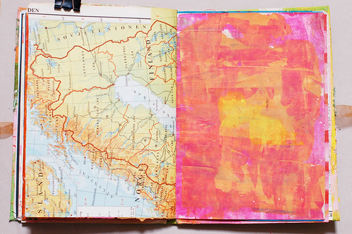 Journal of Scraps I: maps in pink