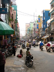 saigon back street (astroboy_71) Tags: life street travel people color colour water colors boat colorful asia southeastasia colours transport streetphotography vietnam busy cables motorcycle mekong cantho southeastasiaimages