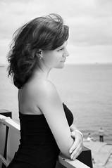 Seaside portrait / Inna (shamray) Tags: sea portrait blackandwhite girl nikon d90
