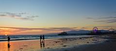 Sunset at Santa Mónica pier
