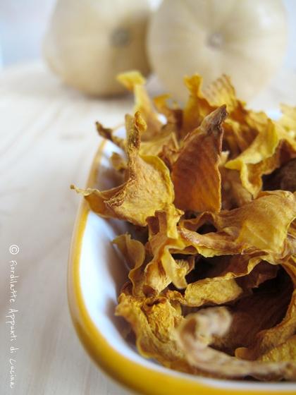 Chips e polvere di zucca