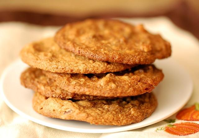 Visions of Sugar Plum: Crispy & Chewy Pumpkin Chocolate Chip Cookies