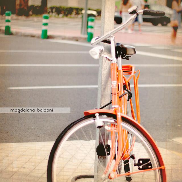 Casi te pierdo bicicleta!