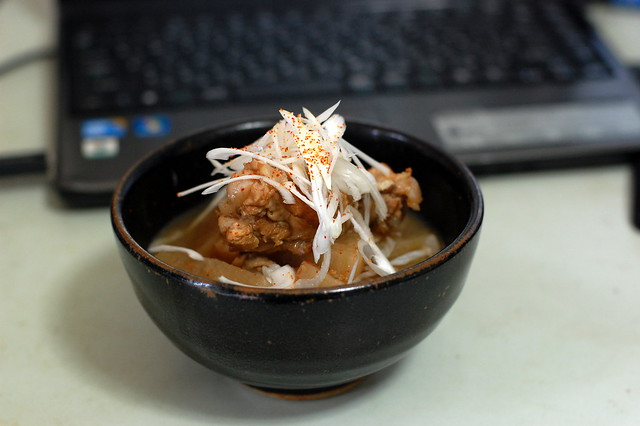 手羽のサッパリ煮丼!