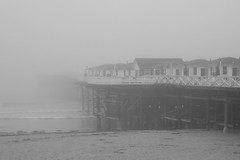 Pacific Beach (Josh Koonce) Tags: ocean california ca white black pier blackwhite pacific sandiego pacificbeach crystalpier