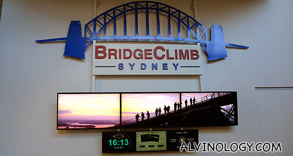 BridgeClimb Sydney, the operater of the Sydney Harbour Bridge Climb