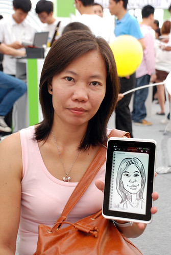 digital caricature live sketching on HTC Flyer for HTC Weekend - Day 2 - 1