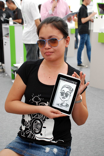 digital caricature live sketching on HTC Flyer for HTC Weekend - Day 2 - 6