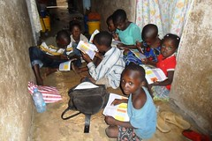 Children attempting Uwezo Tests