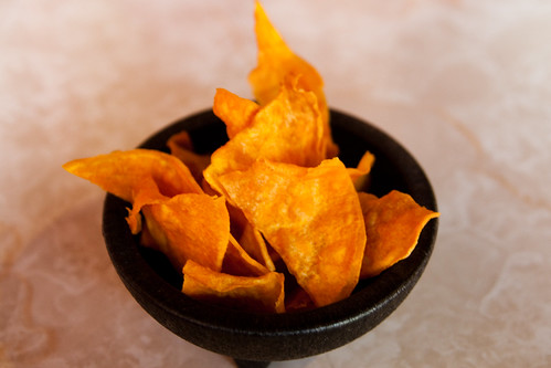 Sweet Potato Chips at AJ's Peruvian Restaurant