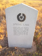 Spring Lake, Lamb County, Texas Historical Marker (fables98) Tags: rural texas flat farm country dry historic springlake texashistoricalmarker lambcounty