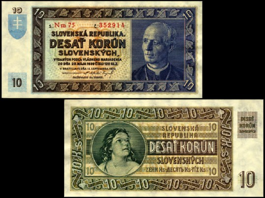 10 Ks Desať korún Slovensko 1939