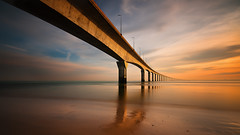 Le pont (Tony N.) Tags: morning bridge sunset mer colors pose soleil long exposure couleurs ngc pont r lever matin longue colorphotoaward