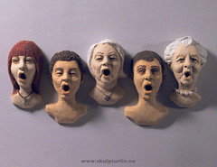 KORET The Choir 66-70 (Skulpturliv) Tags: people art chorus choir portraits ceramic concert singing faces kunst singers chor kor stoneware coro koret portretter kren allsang ansikter sangkor keramikk korister korsang blandakor skulpturliv skulpturell
