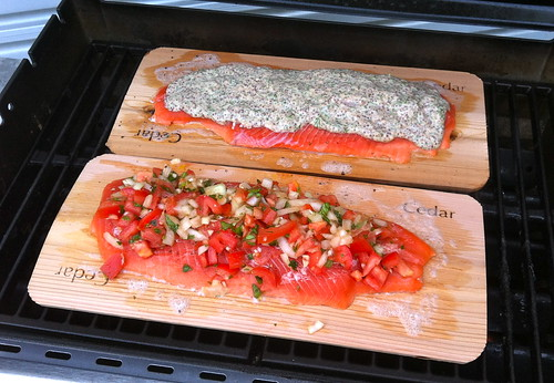 puyallup Silver salmon on the grill