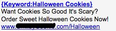 Halloween Cookies - Ad #2