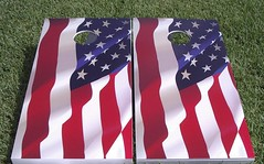 US Flag Cornhole Boards (Full Version)