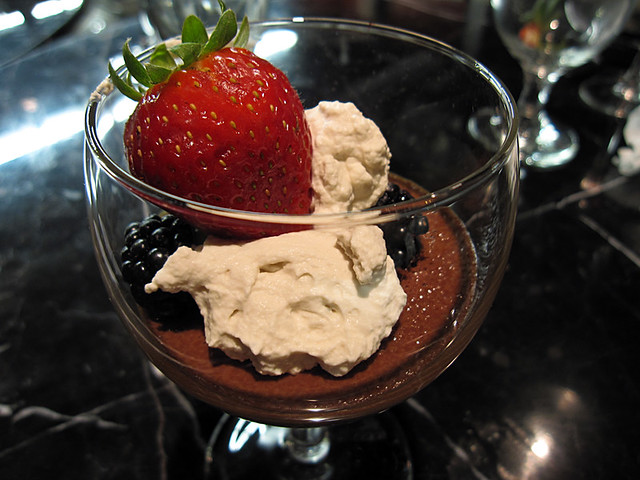 Chocolate Mousse, prepared with Callebaut chocolate