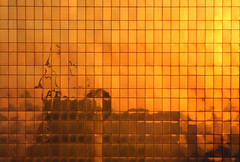 Joburg sun in the Johannesburg Sun (^Richard B^) Tags: africa park urban sun reflection glass buildings downtown south johannesburg gauteng